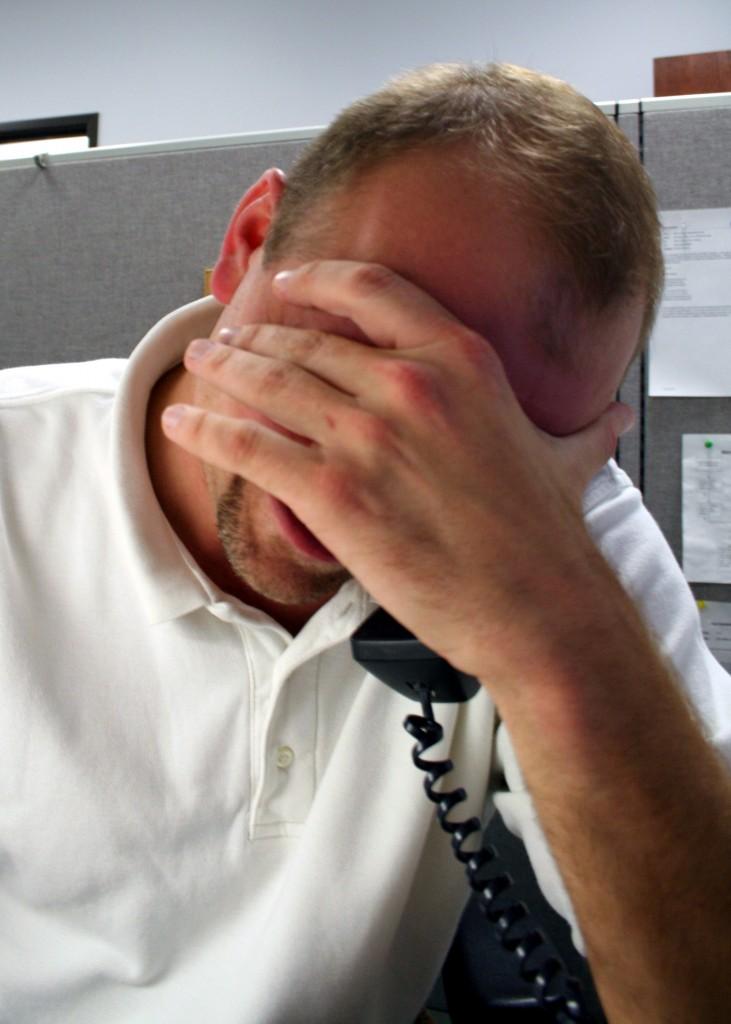 Troubled salesperson